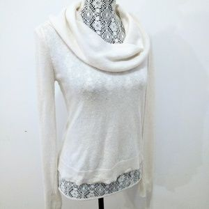 BCBG MaxAzria Cowl Neck Wool & Cashmere Sweater S